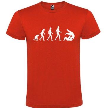 Camiseta hombre evolución taekwondo Rooo logo Blanco