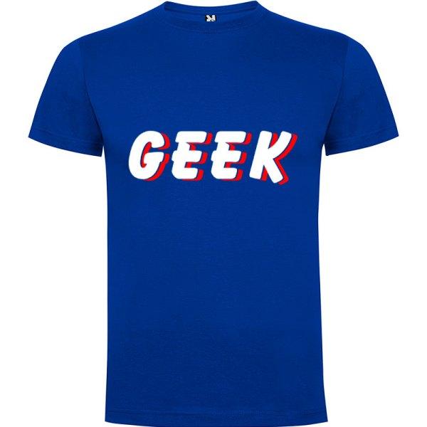 Camiseta hombre Geek Sombra en color azul royal