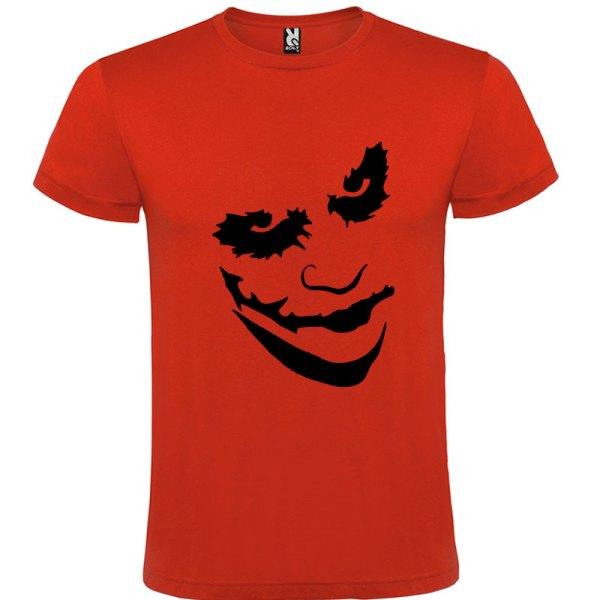 Camiseta manga corta Why so serious?para hombre Joker en Color Rojo