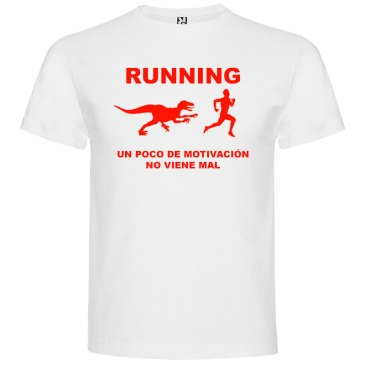 Camisetas divertidas un poco de motivación viene Bién en color blanco y logo en rojo