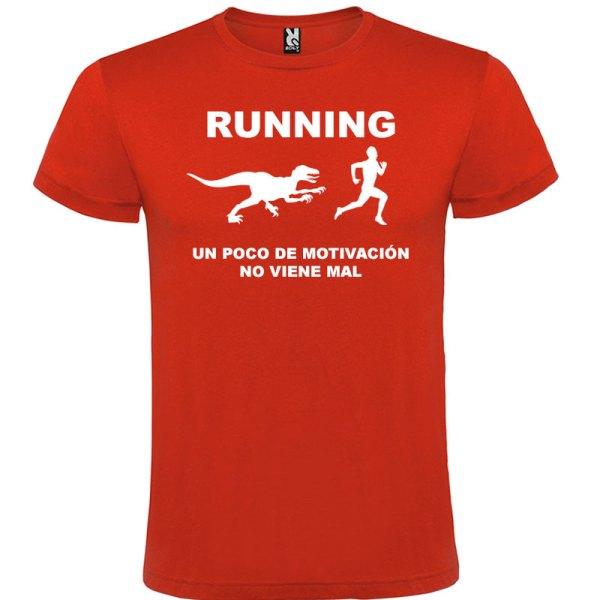 Camiseta RUNNING Hombre color Rojologo Blanco
