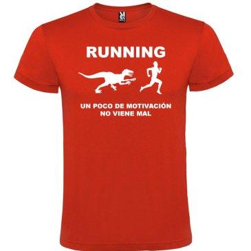 Camisetas divertidas un poco de motivación viene Bién en color rojo y logo en blanco