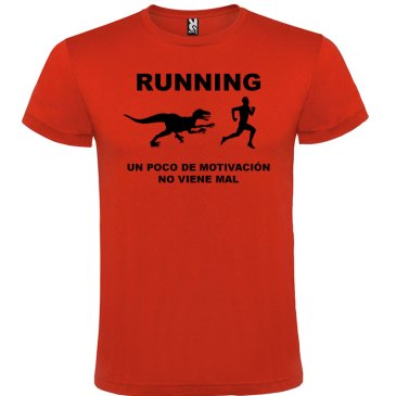 Camiseta RUNNING Hombre color Rojologo Negro