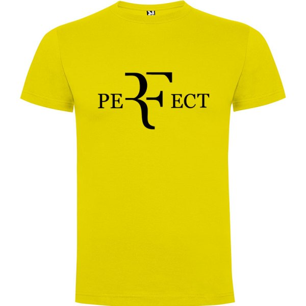 Camiseta para hombre perfect en color amarillo