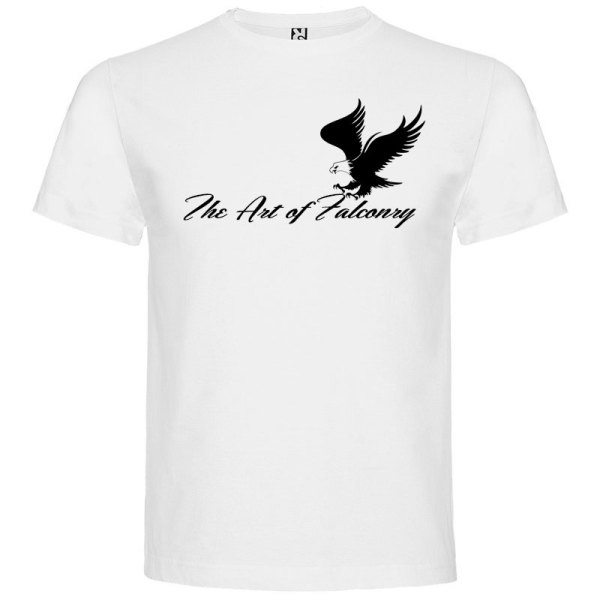 Camiseta para hombre The Art of Falconry Águila en color Blanco