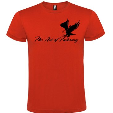 Camiseta para hombre The Art of Falconry Águila en color Rojo