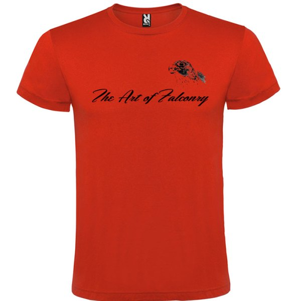 Camiseta The Art of Falconry Falcon en color rojo