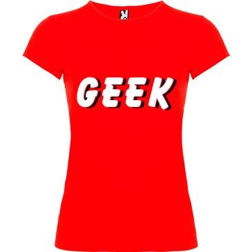 Camiseta mujer Geek Sombra en color rojo