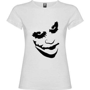 Camiseta manga corta para mujer Joker en Color Blanco