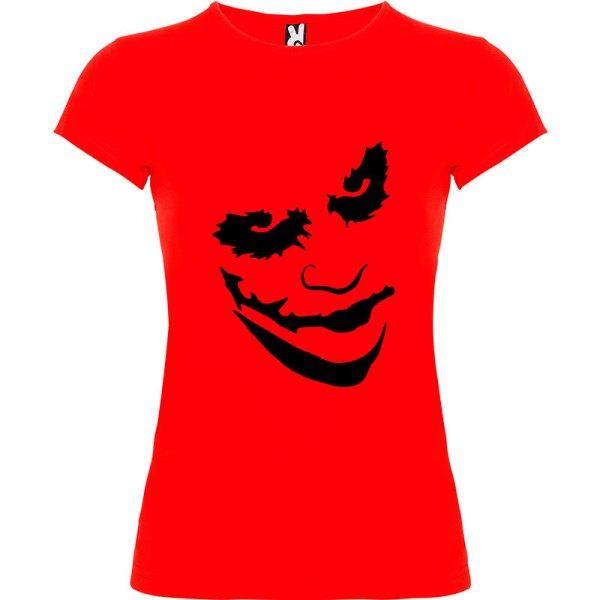Camiseta manga corta para mujer Joker en Color Rojo