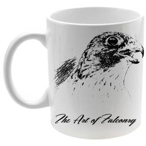 Taza The Art of Falconry Falcon en color blanco