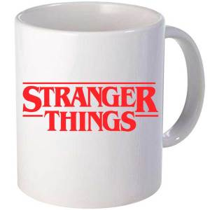 Taza cerámica Stranger Things en color Blanco