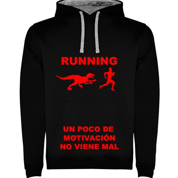 Camiseta para hombre divertida motivación para el doporte en negro y estampado en rojo