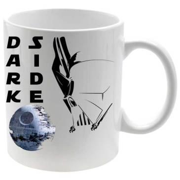 Taza porcelana Dark Side death's star