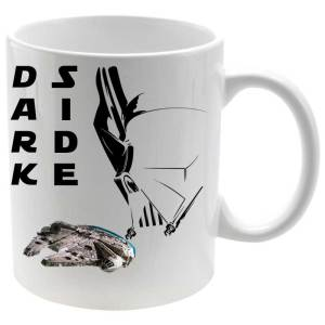 Taza porcelana Dark Side Millenium Falcon