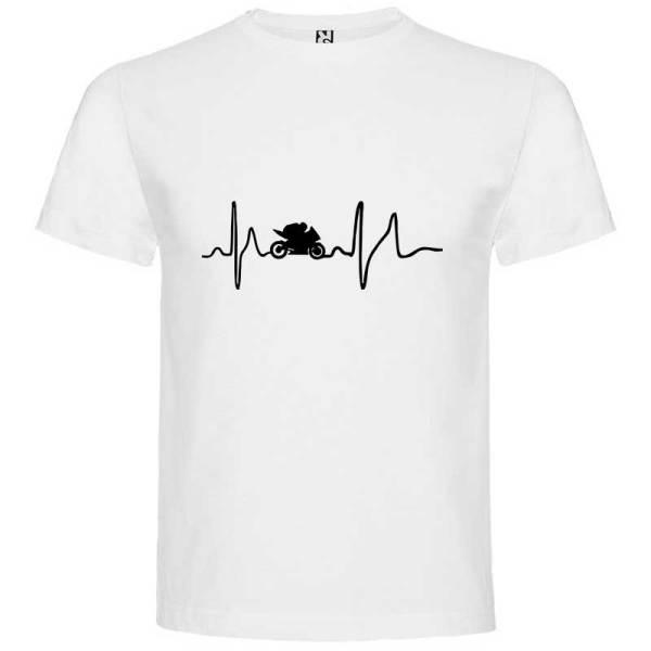 Camiseta para hombre Soy Motero en color Blanco