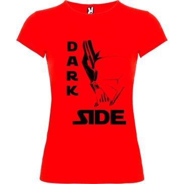 T-Shirt para mujer Dark Side Máscara en color rojo