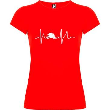 Camiseta para mujer Soy Motera en color Rojo