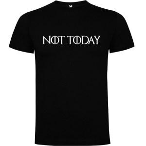 Camiseta para hombre manga corta Not Today Juego de Tronos color negro