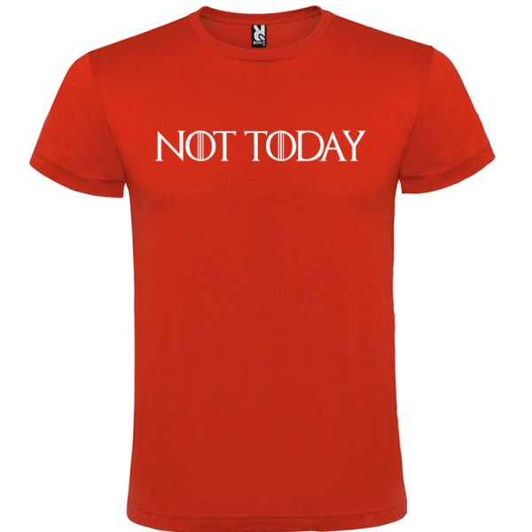 Camiseta para hombre manga corta Not Today Juego de Tronos color rojo