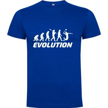 Camiseta manga corta para hombre Evolución Voleibol en color Azul Royal