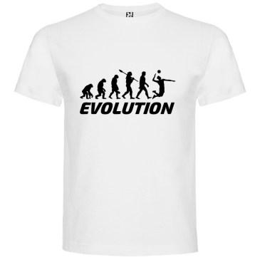 Camiseta manga corta para hombre Evolución Voleibol en color Blanco