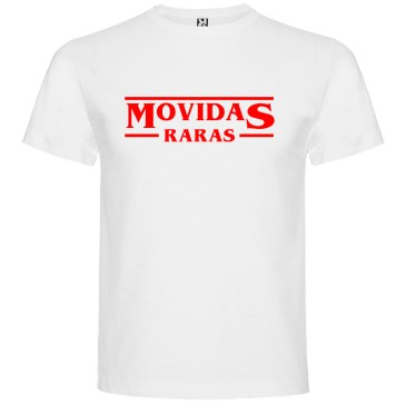 Camiseta para hombre Stranger Things Movidas Raras en color Blanco