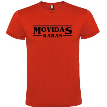 Camiseta para hombre Stranger Things Movidas Raras en color Rojo