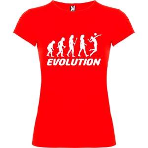 Camiseta manga corta para mujer Evolución Voleibol en color rojo