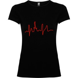 Camiseta para mujer I Live Rock nn color Negro