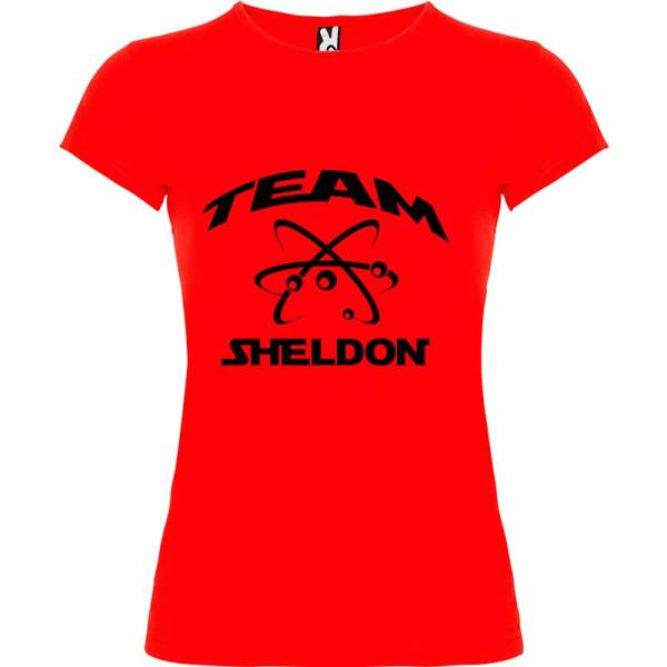 Camiseta para mujer Big Bang Team Sheldon en color Rojo