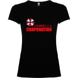 camiseta para mujer Umbrella Corporation Resident Evil en color negro