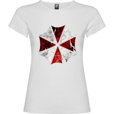 camiseta para mujer Umbrella Resident Evil en color Blanco