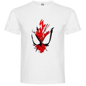 Camiseta para hombre y niños spider en color blanco