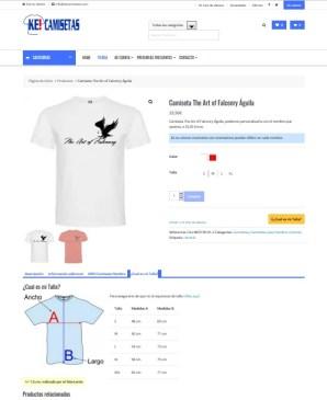 captura web ke camisetas