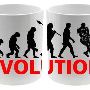 Taza cerámica balnca Evolución Tenis para los tenistas detalle