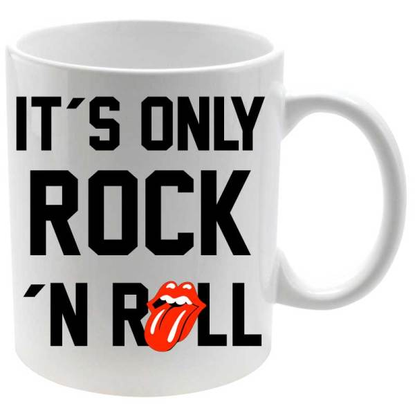 Taza cerámica especial música It´s Only Rock And Roll
