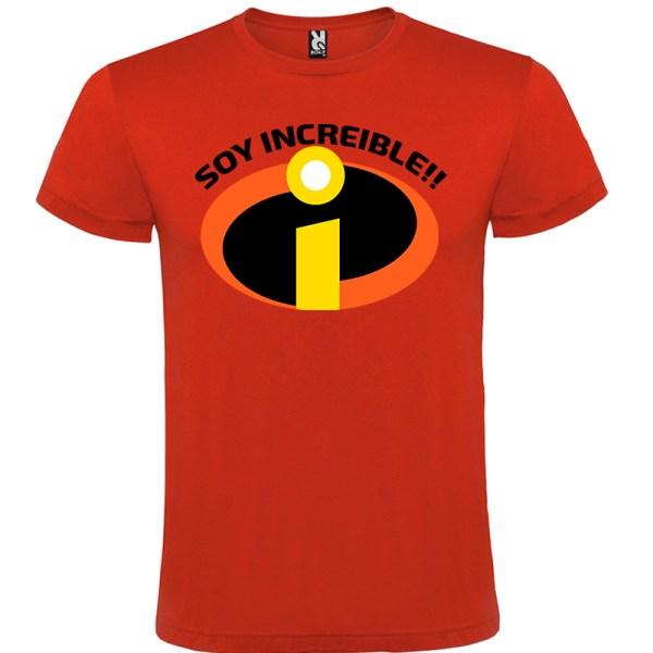 Camiseta para hombre Soy Increible en color Rojo