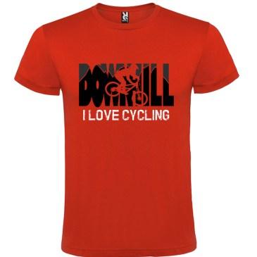 Downhill Camiseta I Love Cycling en color rojo
