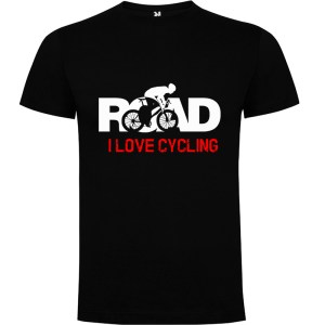 Camiseta para hombre MTB I Love Cycling Road en color Negro
