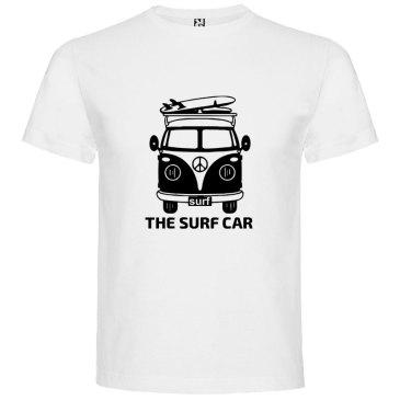 Camiseta The Surf Car para hombre Blanco