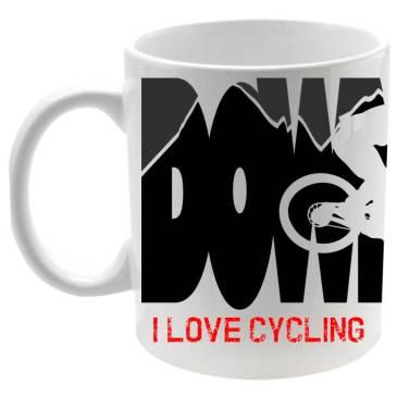 Downhill Taza Cerámica I Love Cycling