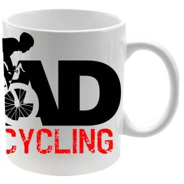 Taza cerámica I Love Cycling Road