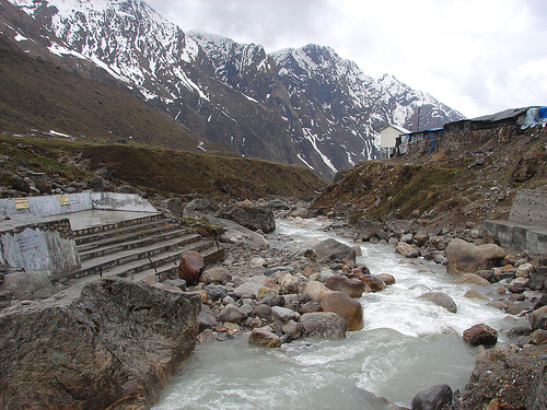 Mandakini river at Kedarnath
