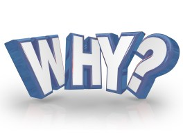 The word Why in red 3D letters and a question mark to ask the reason or origin behind something and expressing curiosity for an answer