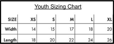 Keegs youth sizes