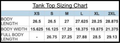Keegs Tank Size Chart
