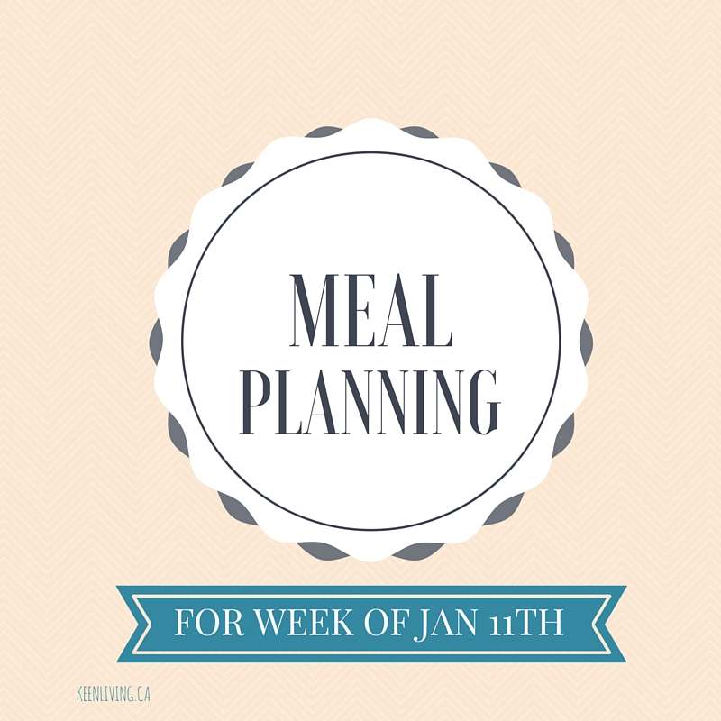 Meal Planning Jan 11