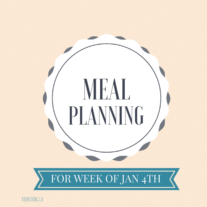 Meal Planning Jan 4
