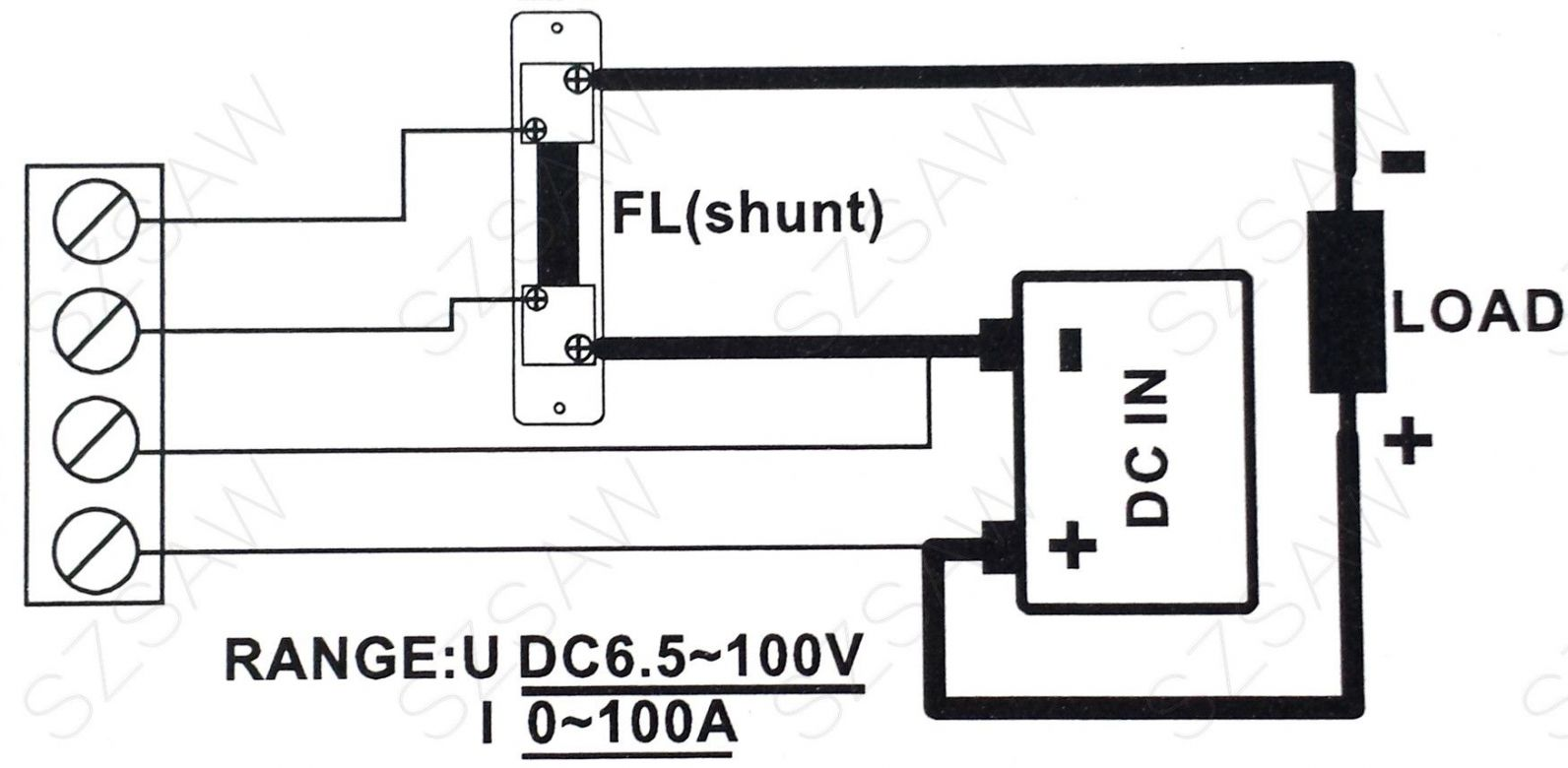 Dc 6 5 100v 0 100a Voltage Current Power Energy Combo